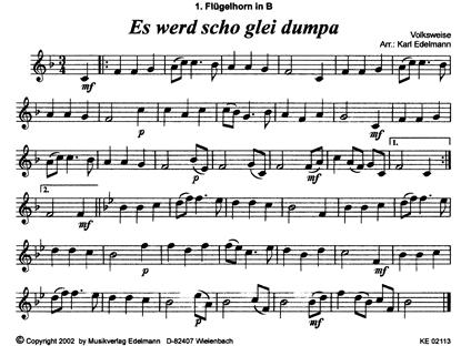 Alpenländische Weihnachtslieder Noten.Weihnachtliche Blasmusik